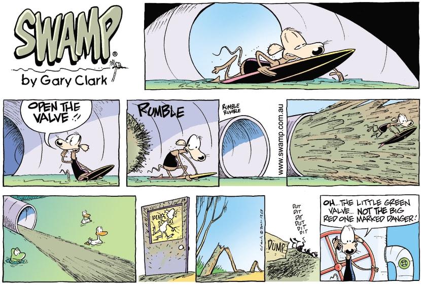 Swamp Cartoon - Surfs UpNovember 4, 2007