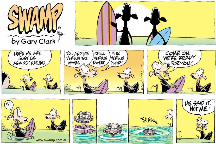 Swamp Cartoon - Big SurfNovember 25, 2007