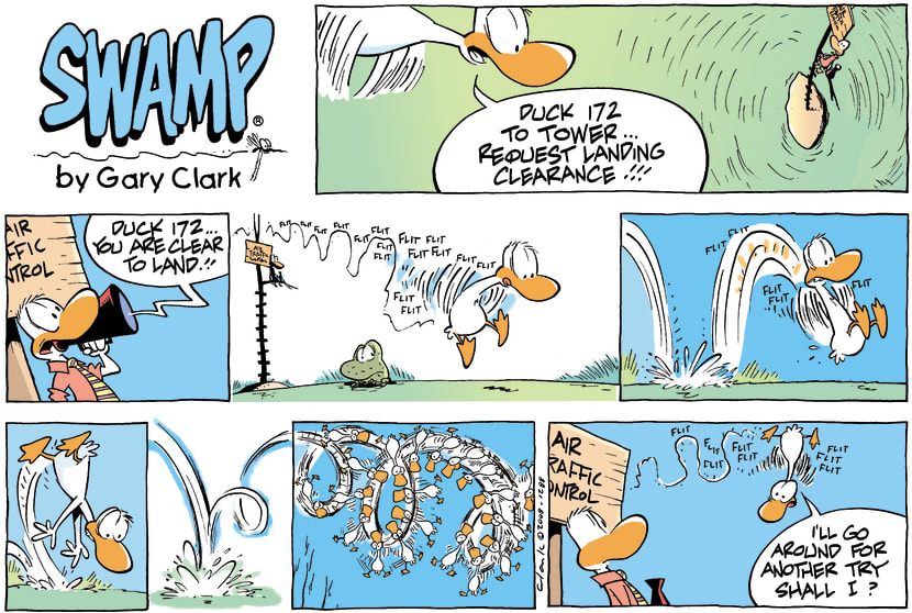 Swamp Cartoon - Emergency LandingMarch 30, 2008