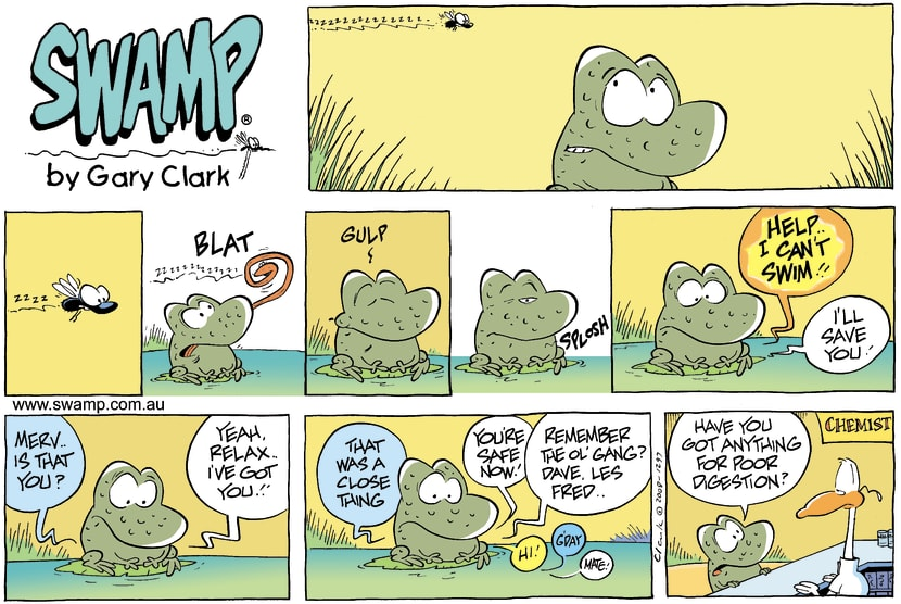 Swamp Cartoon - You are what you eat!June 1, 2008