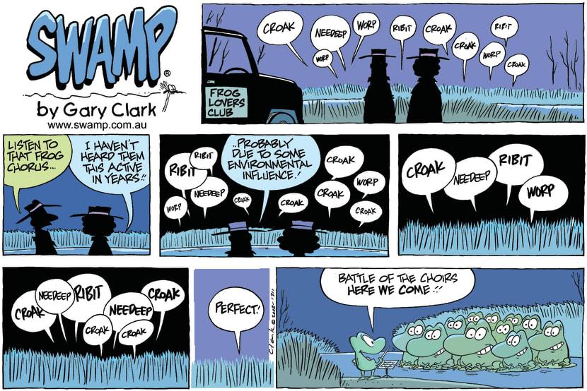 Swamp Cartoon - Getting Back to NatureSeptember 7, 2008