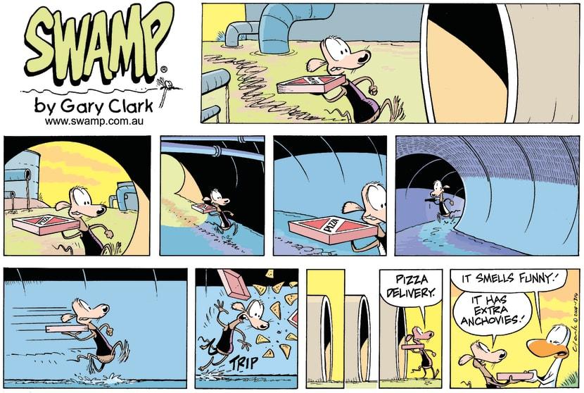 Swamp Cartoon - Chives Rat Pizza Delivery ComicSeptember 28, 2008