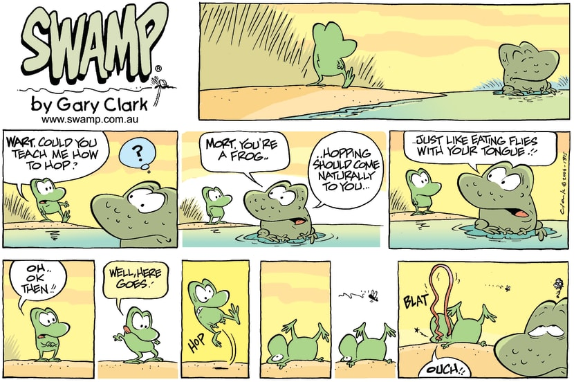 Swamp Cartoon - It Comes NaturalOctober 5, 2008