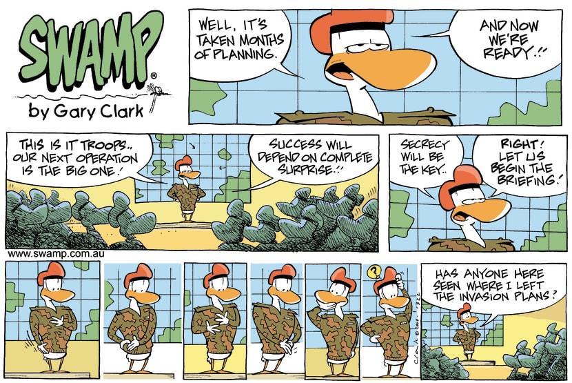 Swamp Cartoon - Secret Missing!November 23, 2008