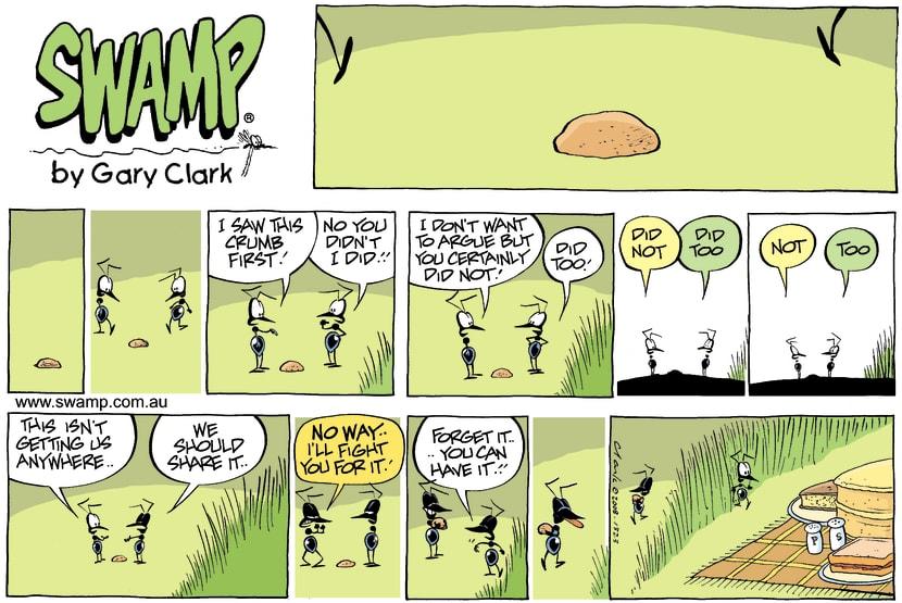 Swamp Cartoon - I saw it First ComicAugust 4, 2013