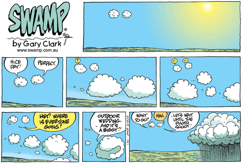 Swamp Cartoon - Clouds Know When to RainAugust 23, 2009