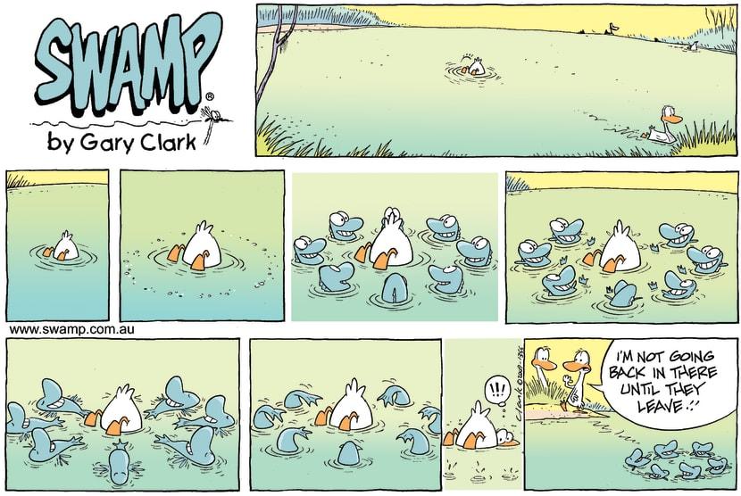 Swamp Cartoon - Swamp Fish Teasing ComicSeptember 27, 2009