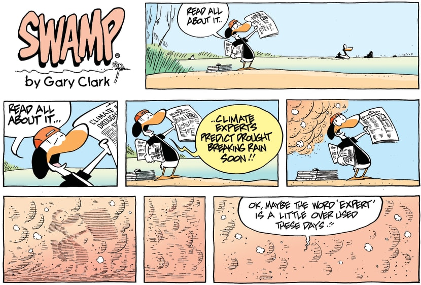 Swamp Cartoon - Weather Event HeadlineOctober 18, 2009