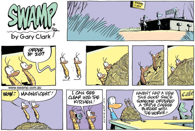 Swamp Cartoon - A Good ViewDecember 13, 2009