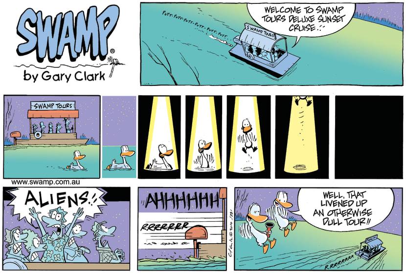 Swamp Cartoon - Encounters of the Fun KindJanuary 10, 2010