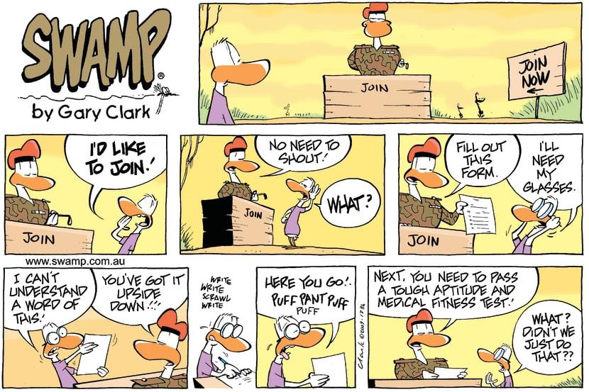 Swamp Cartoon - Poor RecruitJanuary 31, 2010