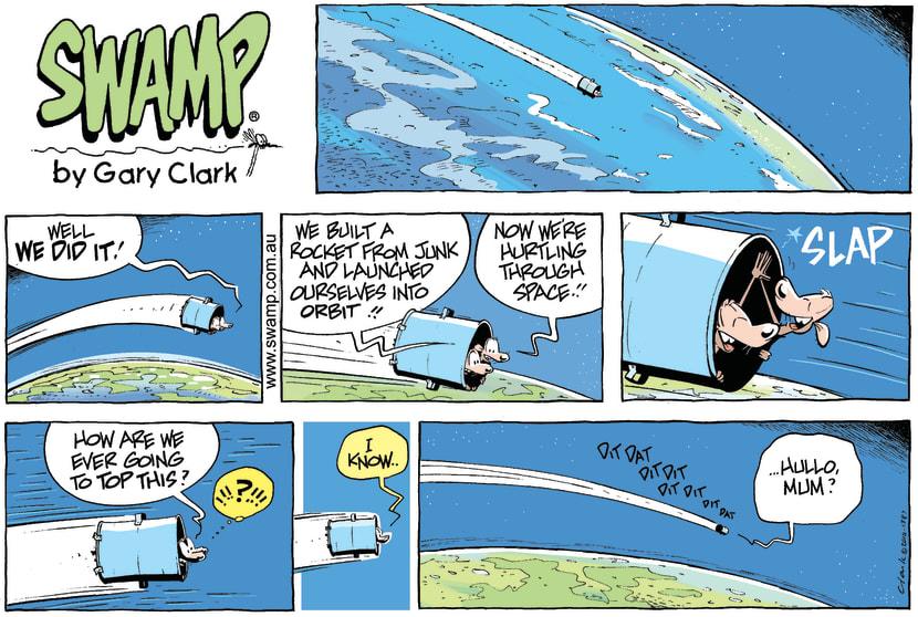 Swamp Cartoon - Up up and away! 2February 21, 2010