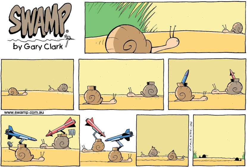 Swamp Cartoon - Shell ShockApril 4, 2010