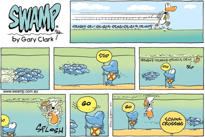 Swamp Cartoon - Fishy SchoolMay 30, 2010