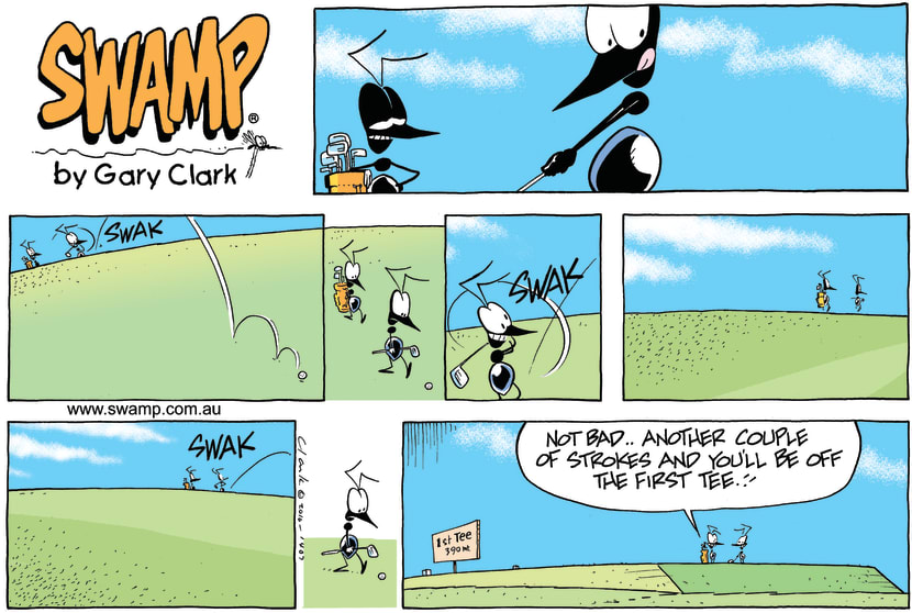 Swamp Cartoon - Big EffortJuly 11, 2010