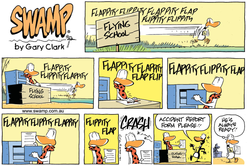 Swamp Cartoon - Up up and forget it!August 8, 2010