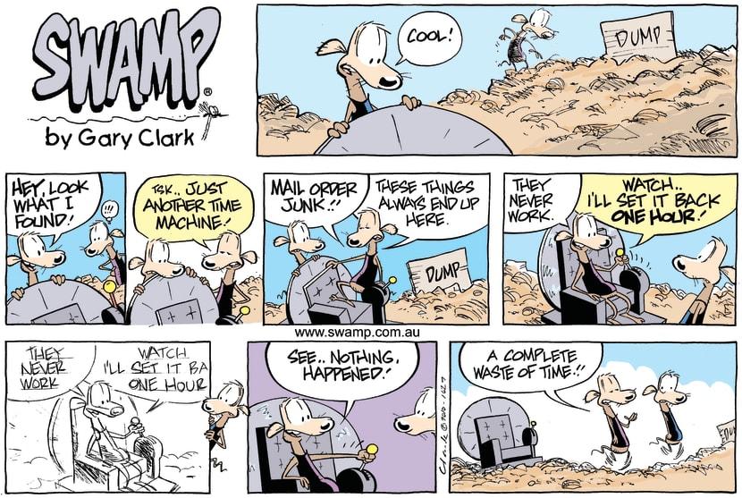 Swamp Cartoon - Backward ThinkingNovember 28, 2010