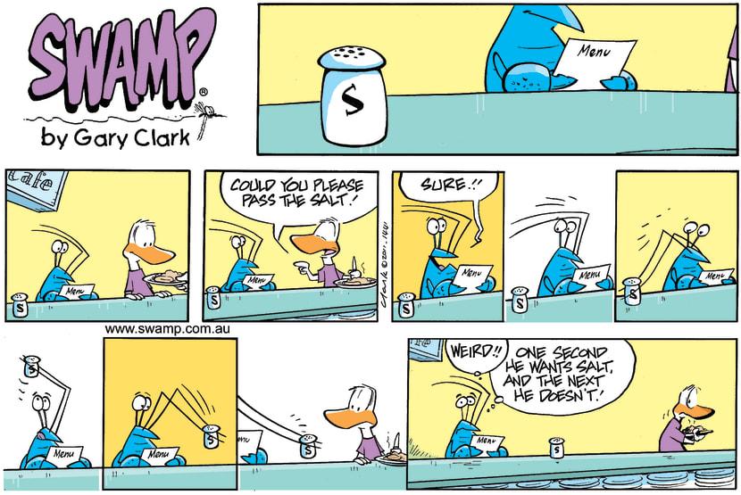 Swamp Cartoon - Misunderstood MannersMarch 13, 2011