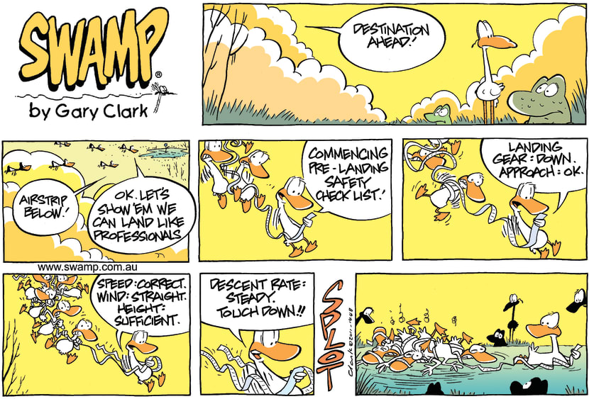 Swamp Cartoon - It's all in the technique….May 1, 2011
