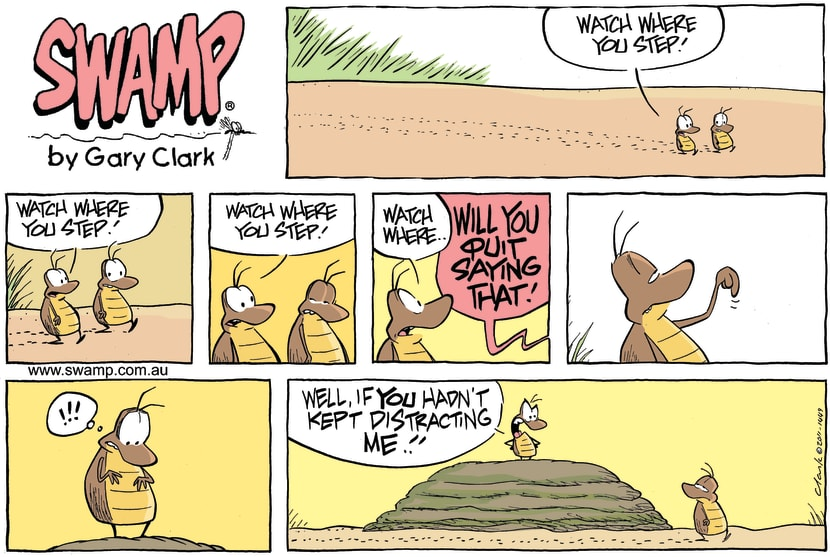Swamp Cartoon - Less Talk More WalkMay 15, 2011
