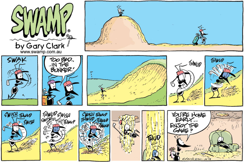Swamp Cartoon - All in a days work…November 27, 2011