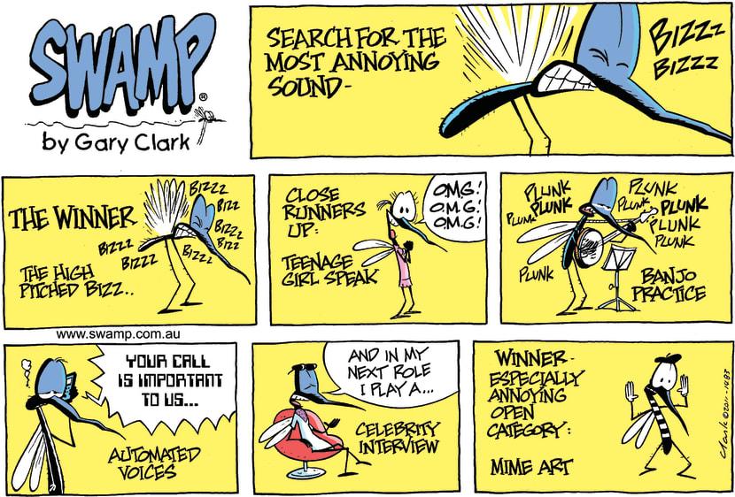 Swamp Cartoon - Swamp MosquitoesDecember 25, 2011