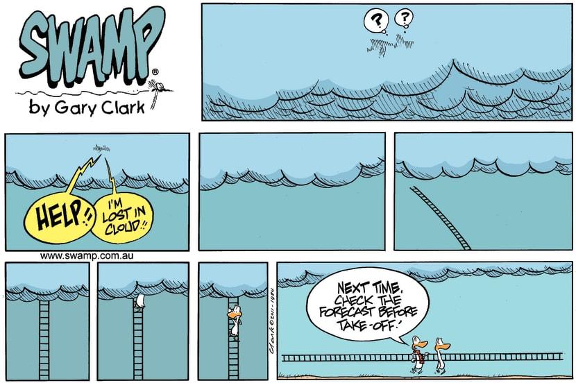 Swamp Cartoon - Easy Way OutJanuary 15, 2012
