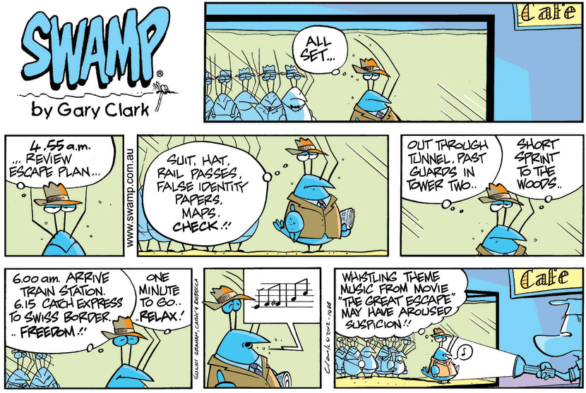 Swamp Cartoon - The Not So Great EscapeFebruary 12, 2012