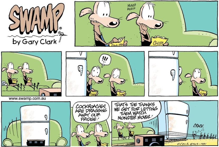 Swamp Cartoon - Swamp Rats Fridge ComicOctober 12, 2014