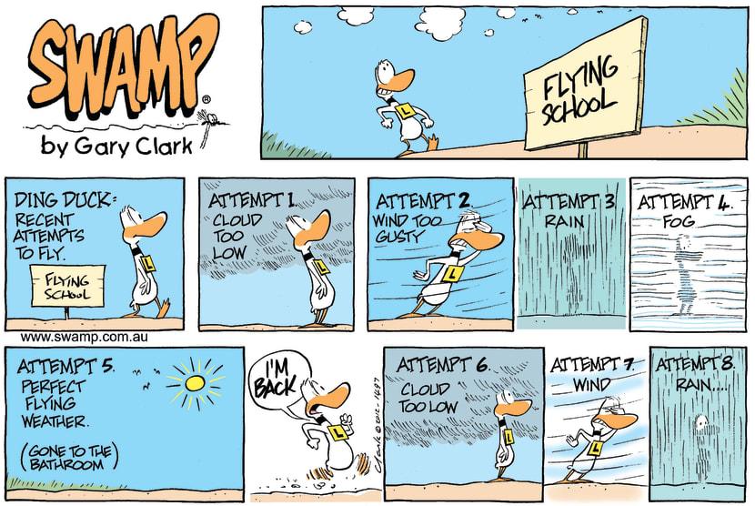 Swamp Cartoon - Ding Duck WeatherApril 15, 2012