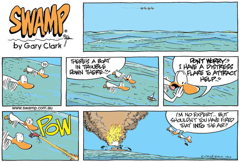 Swamp Cartoon - Swamp Ducks Helping HandMay 27, 2012