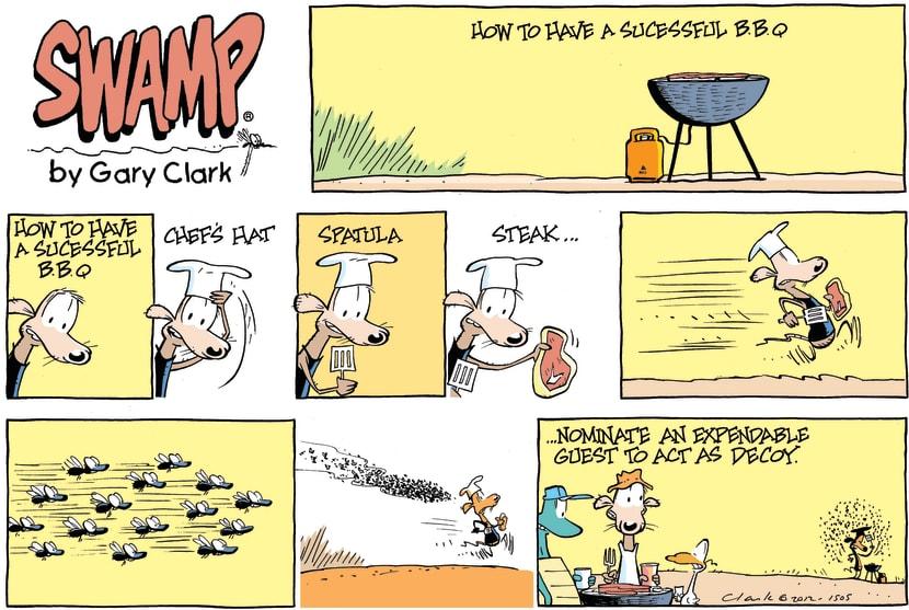 Swamp Cartoon - BBQ FunJune 10, 2012
