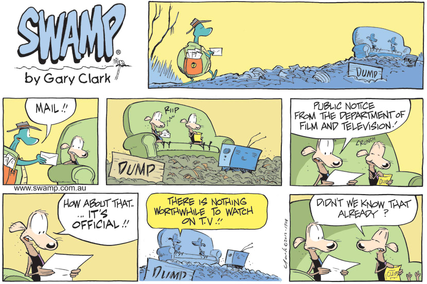 Swamp Cartoon - Nothing Worth Watching on TelevisionJuly 1, 2012