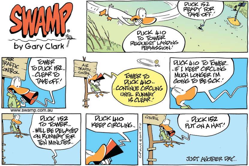 Swamp Cartoon - Continue Circling ComicAugust 5, 2012