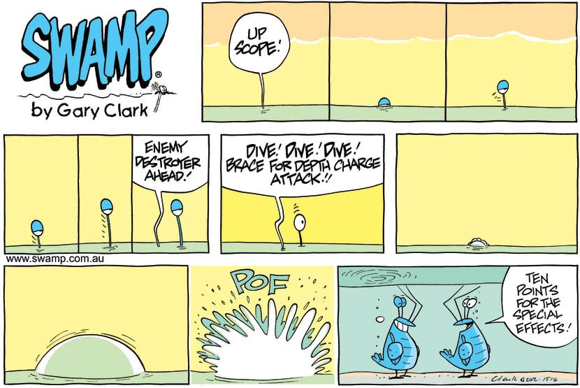 Swamp Cartoon - Depth Charge ComicAugust 12, 2012