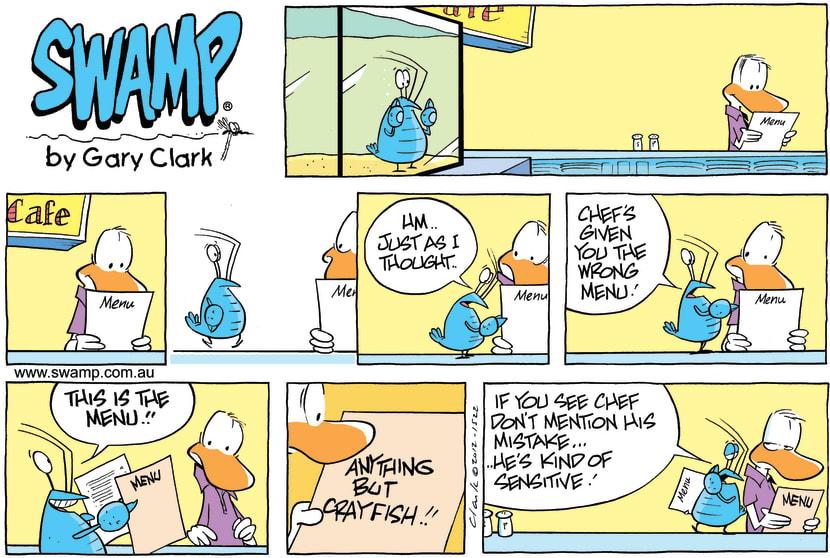 Swamp Cartoon - Menu ComicSeptember 30, 2012