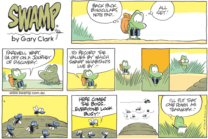 Swamp Cartoon - Journey of Discovery ComicOctober 7, 2012