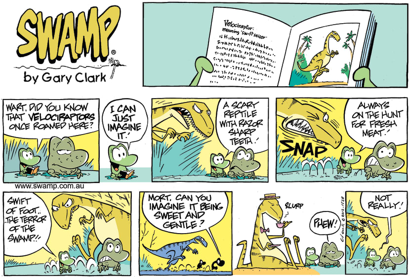 Swamp Cartoon - Dinosaur in the Swamp ComicNovember 11, 2012