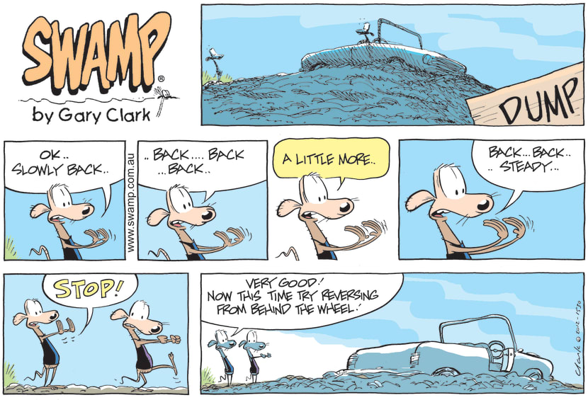 Swamp Cartoon - Reverse Slowly ComicNovember 25, 2012