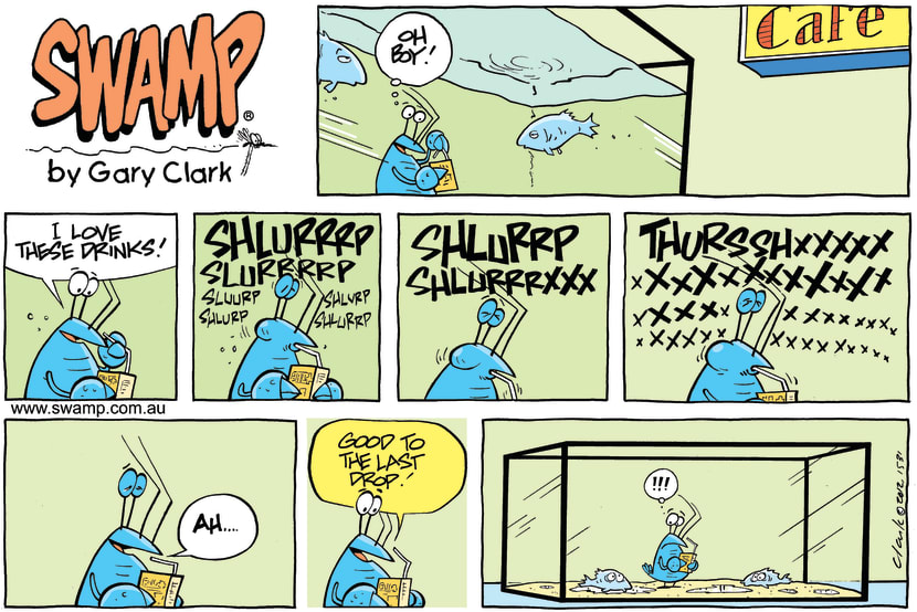 Swamp Cartoon - Thirsty ComicDecember 2, 2012
