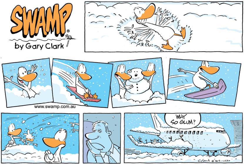Swamp Cartoon - Snow Day!December 16, 2012