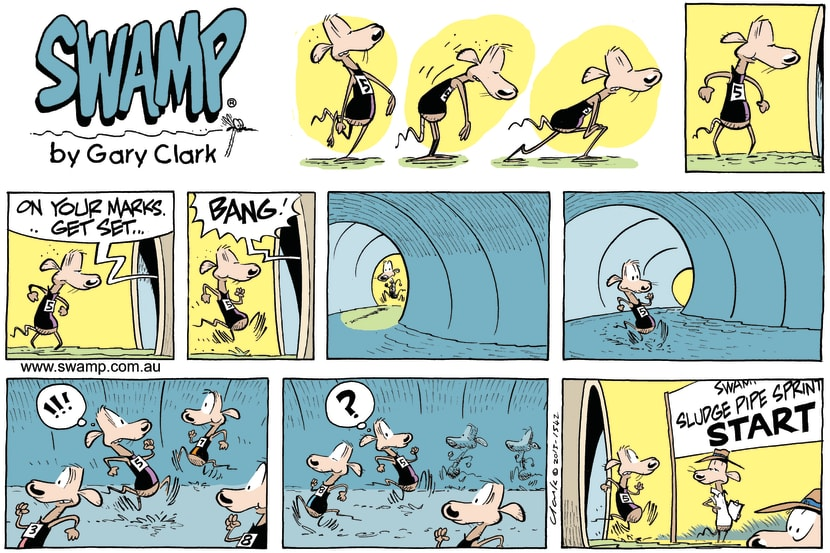 Swamp Cartoon - On Your Marks ComicMarch 17, 2013