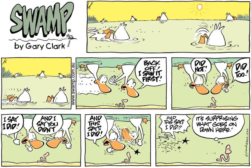Swamp Cartoon - Underwater Bliss ComicApril 7, 2013