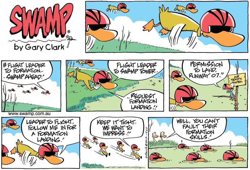 Swamp Cartoon - Formation Landing ComicJune 2, 2013