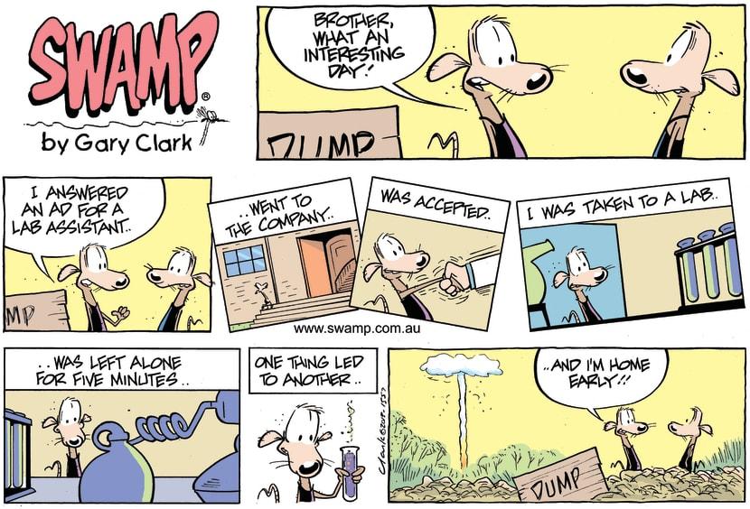 Swamp Cartoon - First Day on the Job ComicJune 16, 2013