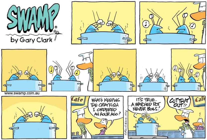 Swamp Cartoon - Watching the Water Boil ComicJune 23, 2013