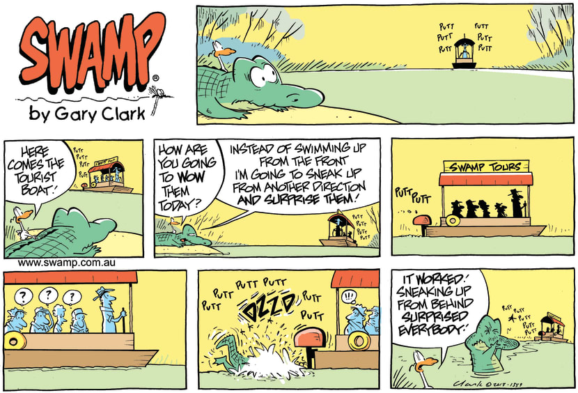 Swamp Cartoon - Wow the Tourists ComicJune 30, 2013