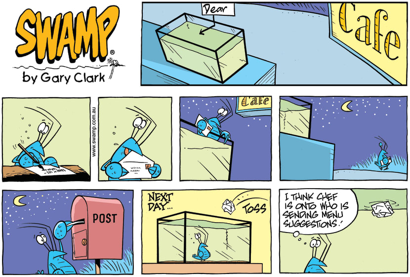 Swamp Cartoon - Letter Writing ComicAugust 25, 2013