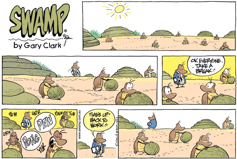 Swamp Cartoon - Work Schedule ComicSeptember 1, 2013