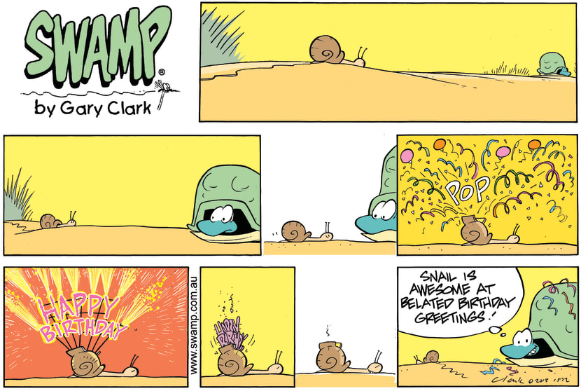 Swamp Cartoon - Happy Birthday ComicOctober 13, 2013